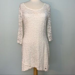 Guess cream lace dress